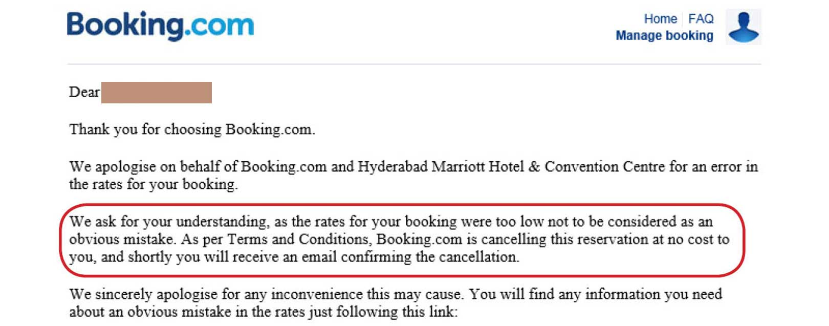 Not all hotels are free cancellation. You'll need to contact both and check booking agreements. I got my money back when it happened to me as it turned out exehalo.gq had failed to make it clear about cancellation fees - it should have said fees applied for cancellation and it didn't.
