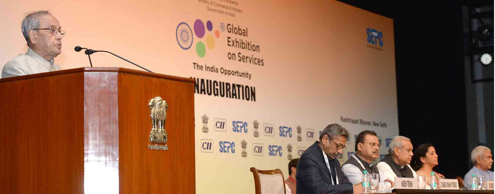 Global services trade is far less than merchandise trade: President