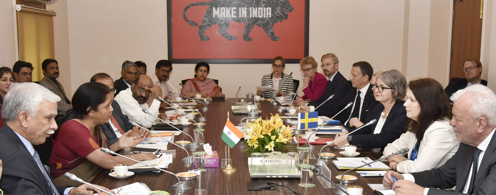 Sitharaman and Swedish minister set up mechanism to further trade