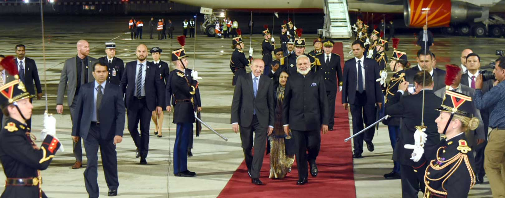 Modi reaches France, hold talks on terrorism, NSG with Macron
