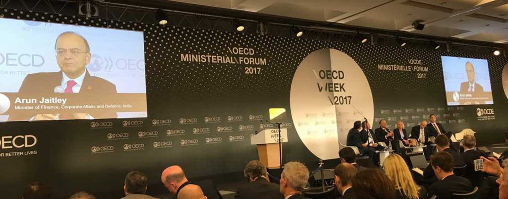 Jaitley signs OECD tax-treaty convention in Paris today