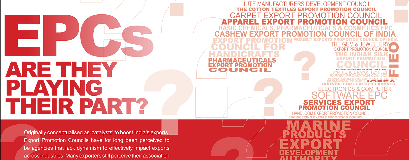 Export Promotion Councils Are They Playing Their Part